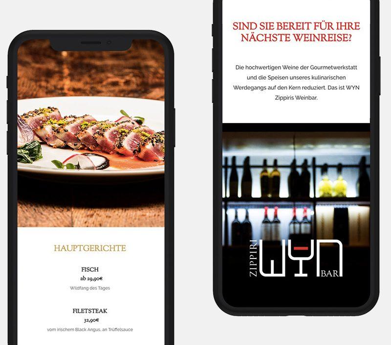 Website realisation with Wordpress – Restaurant Zippiri